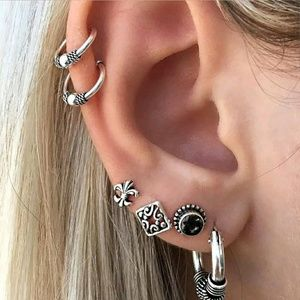 Retro fashion bohemian earring set
